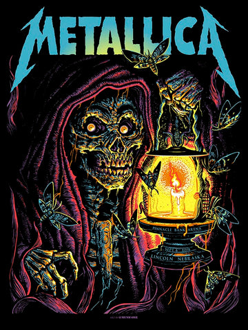 Metallica Boise Fluorescent Red Variant