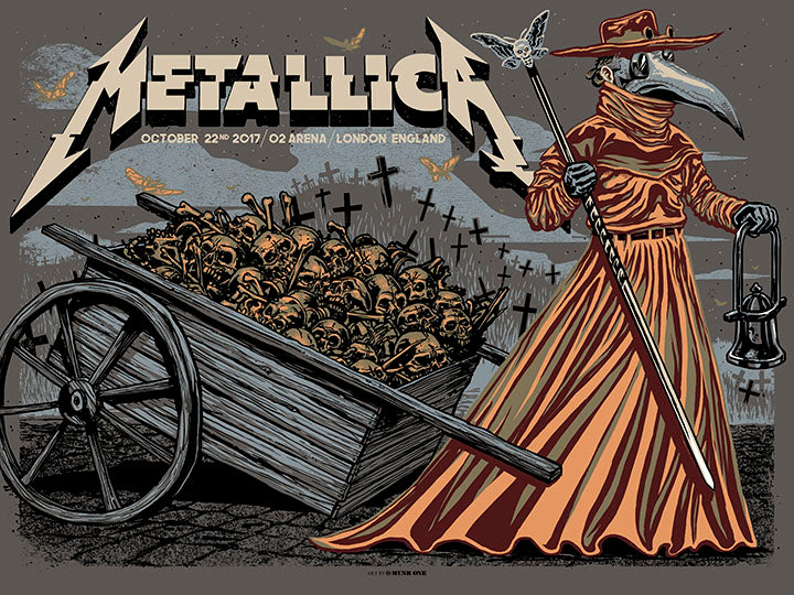 Metallica London Night 1 Beige Variant