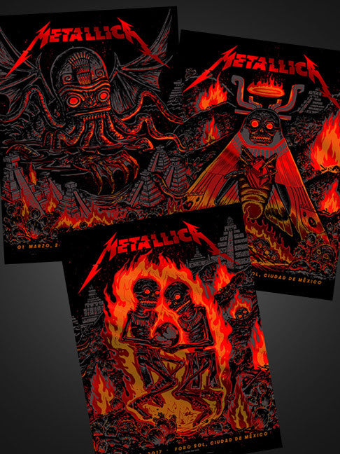 Metallica Mexico City FOIL Set