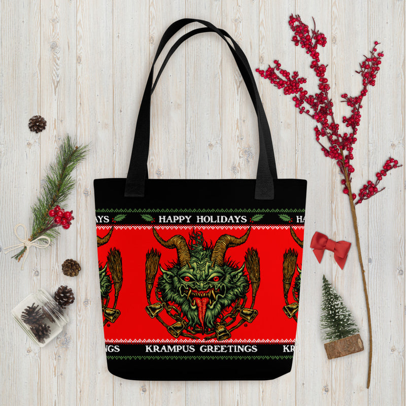 Krampus Greetings Tote bag