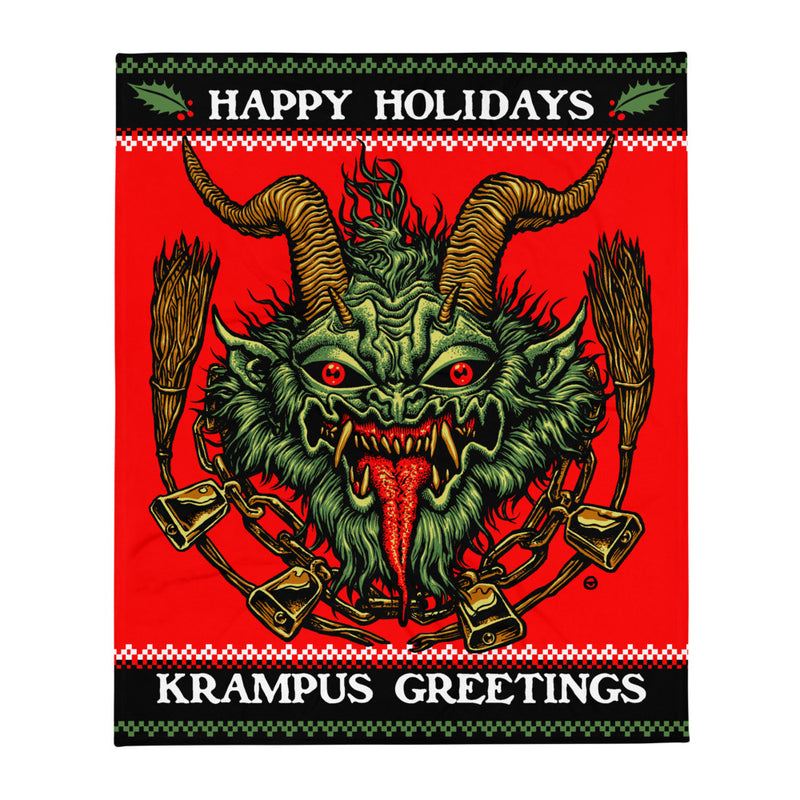 KRAMPUS Throw Blanket