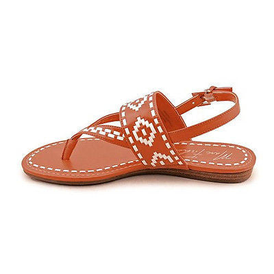 265fb68dbe3e2c Marc Fisher Red   White Sari Flat Thong Sandals Size 8 1 2