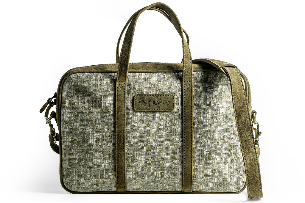 The Marrakech Briefcase - Khaki