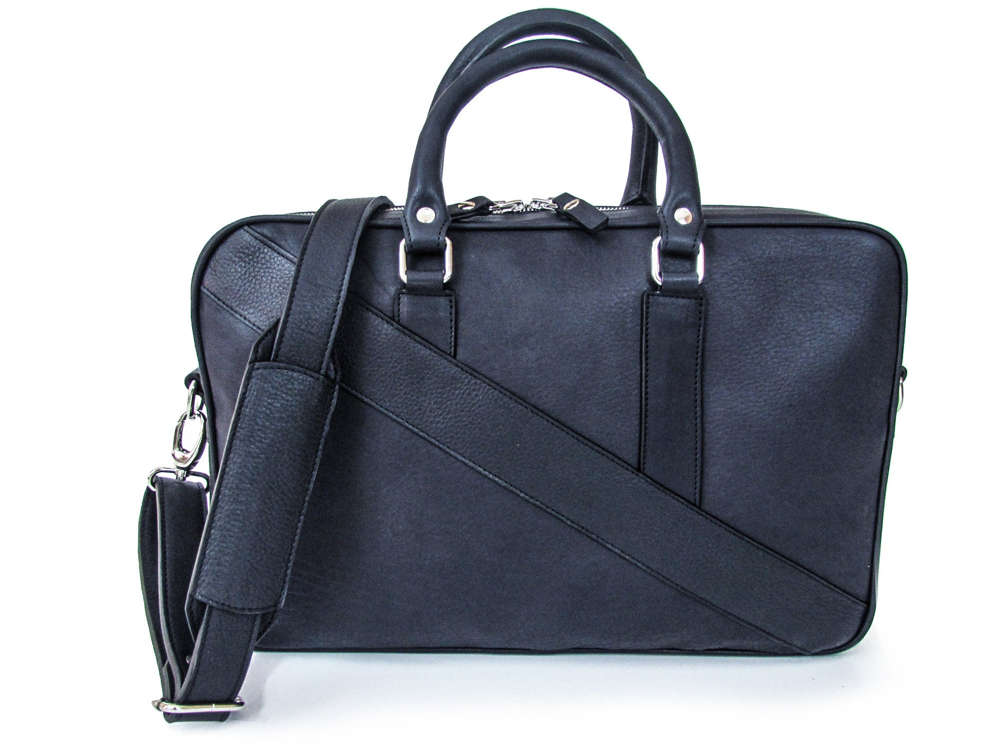 The Dollar Gent Briefcase in Dark Navy Blue is the perfect leather briefcase for the office and business and conveys a sporty and modern look