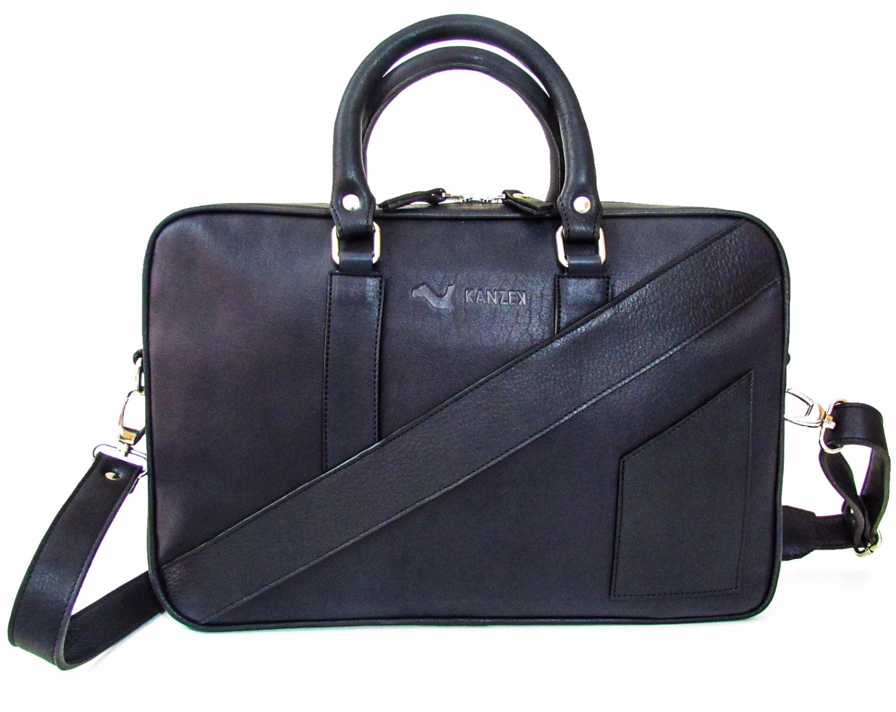 The Dollar Gent Briefcase in Dark Navy Blue has a beautiful original design