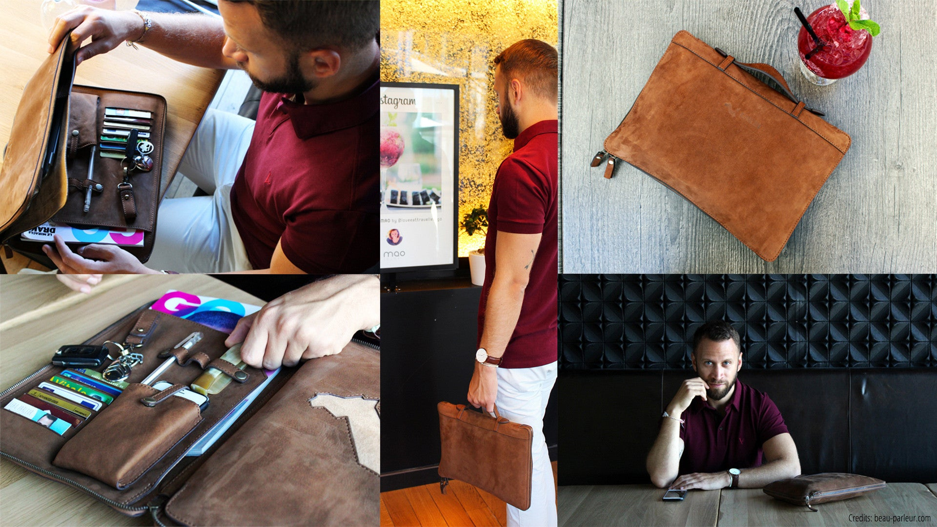KANZEK - The Slim Safe Zippered Leather Portfolio - Decor