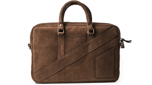 The Dollar Gent Briefcase in Vintage Cognac has a beautiful original design