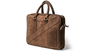 The Dollar Gent Briefcase in Vintage Cognac is an affordable luxury work briefcase for men