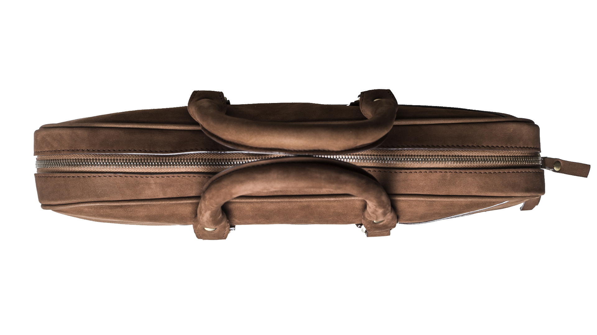 The Dollar Gent Briefcase in Vintage Cognac is slim and compact