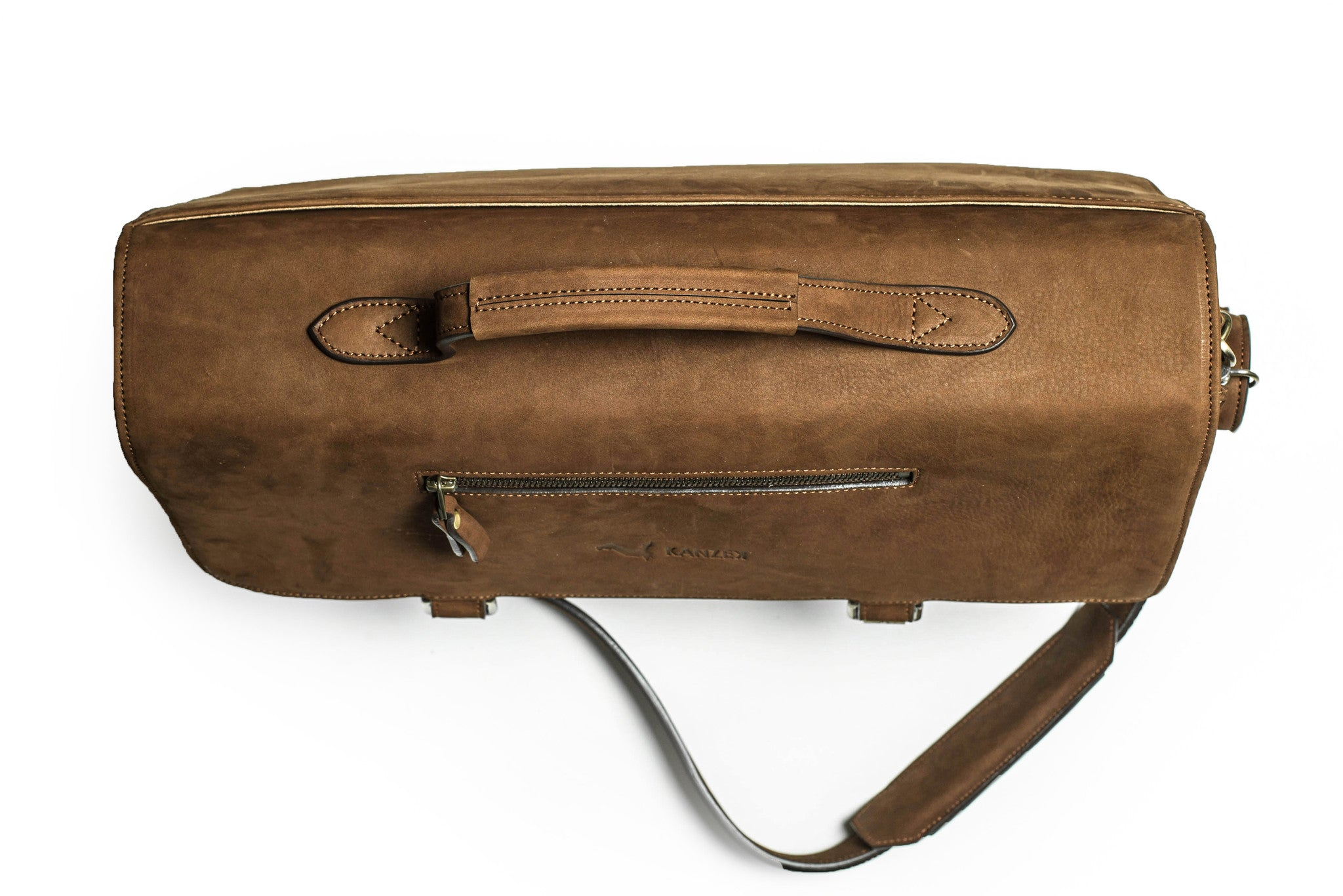 "17.3"" Leather Laptop Messenger Bag in Vintage Cognac - The Brave Nostalgia Satchel"