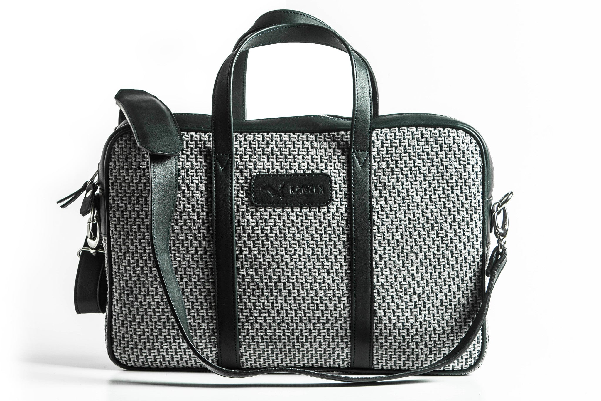 The Marrakech Briefcase - Blue & Grey