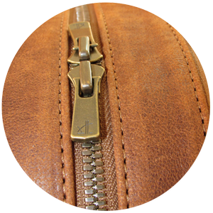 Premium material including YKK Excella zippers and suede-like linings