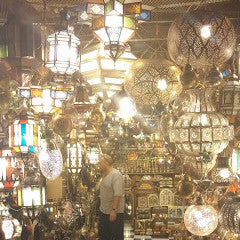 A lamps' shop in Jemaa El Fna Place in Marrakech.