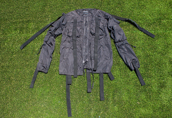 Water Repellent  Strap Long Bomber