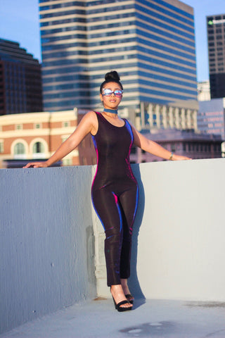 Purple / Blue color change body suit