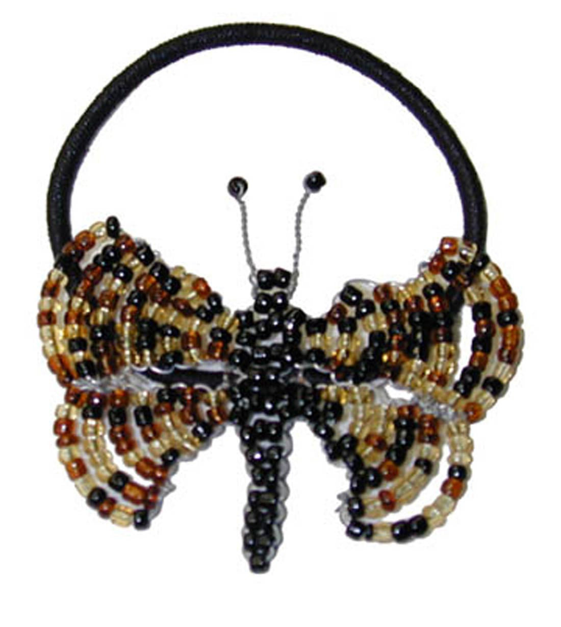 Beaded Wire Butterfly Pony Elastics