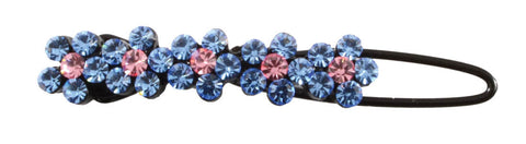 5 Gem Flower Clip - Powder Blue