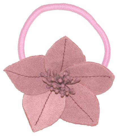 Suede Flower Lily - Light Pink