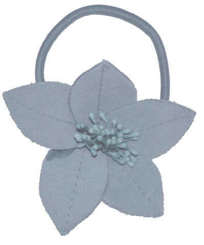 Suede Flower Lily - Light Blue