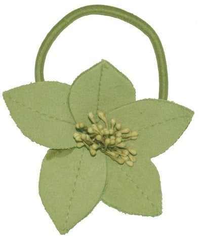 Suede Flower Lily - Green