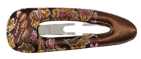 Oriental Satin Sleep Clip - Dark Brown