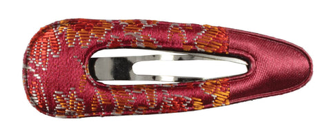 Oriental Satin Sleep Clip - Burgundy