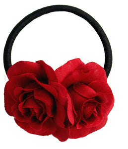 Rose Twins Pony Elastics - Red