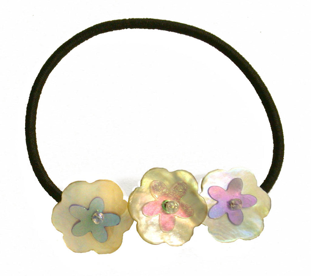 Flower Shells Elastics - Black