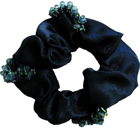 Scrunchie Beaded Organza - Navy
