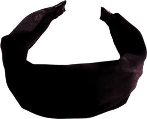 "Satin ""C"" Headband - Dark Brown"