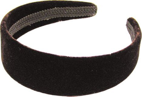 Velvet Headband - Dark Brown