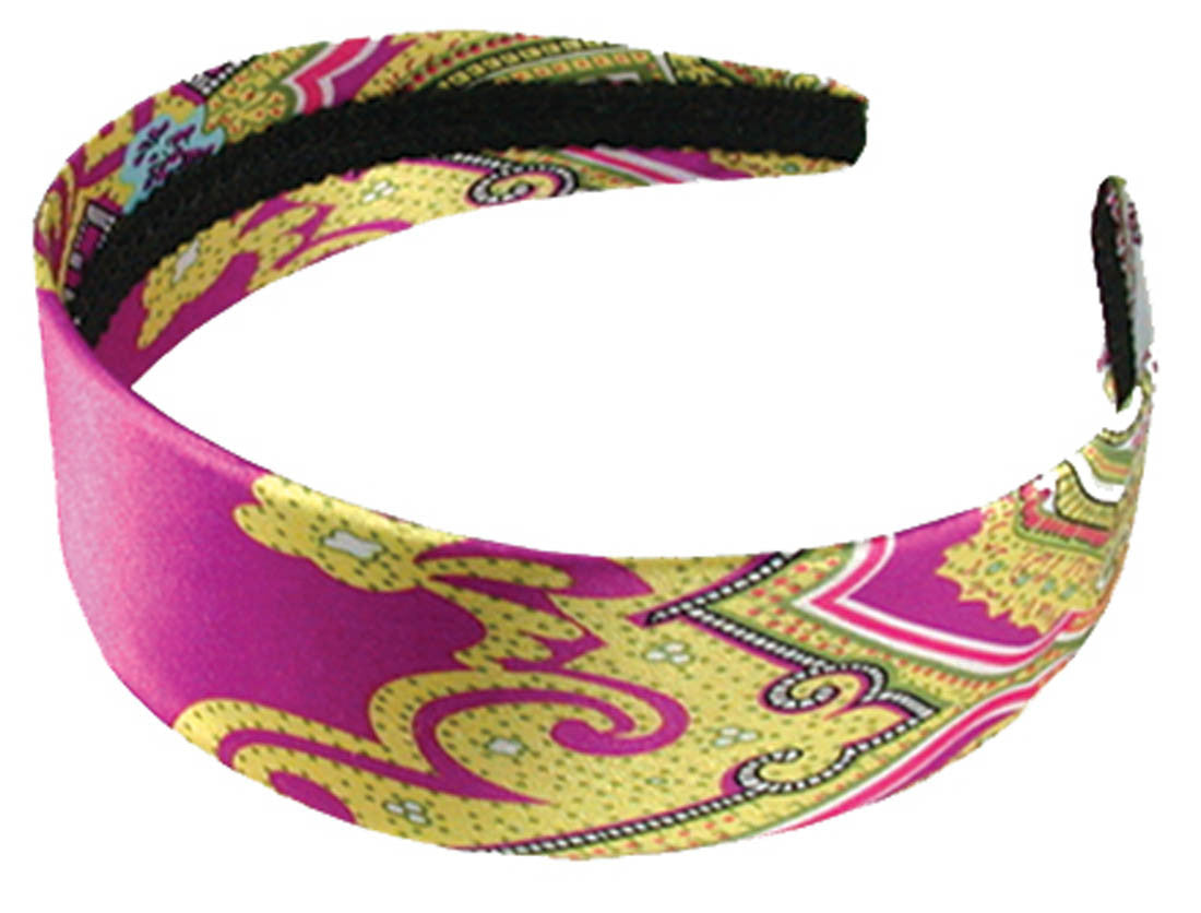 Wide Headband Paisley - Pinks