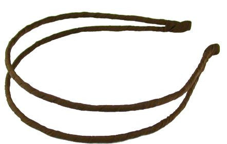 Wrapped Double Headband - Brown