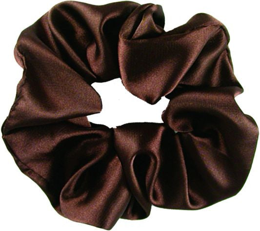 Satin Scrunch - Brown
