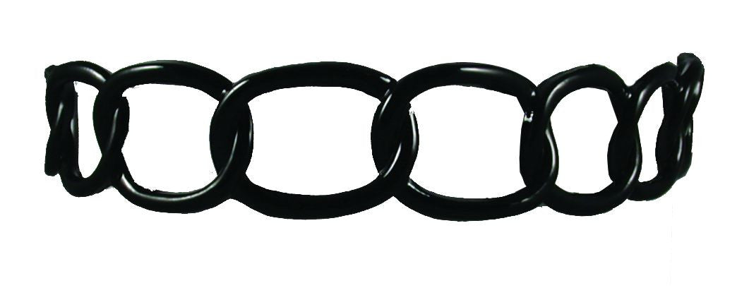 Rubber Chain Headband - Black
