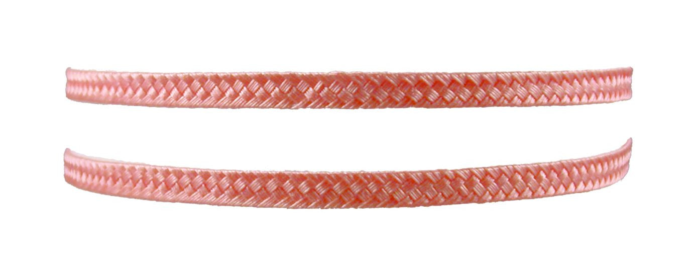 Woven Thin Double Headband - Peach