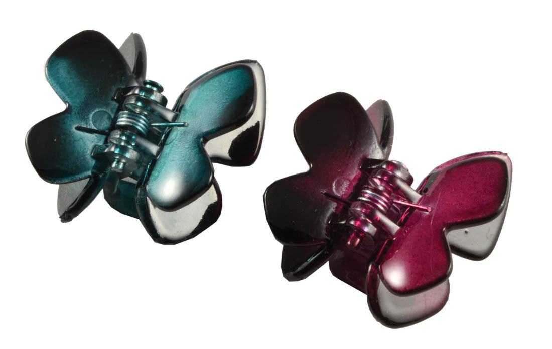 Butterfly Clawettes - Rasberry/Teal