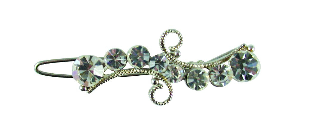 Baroque Crystal Clip-Clear