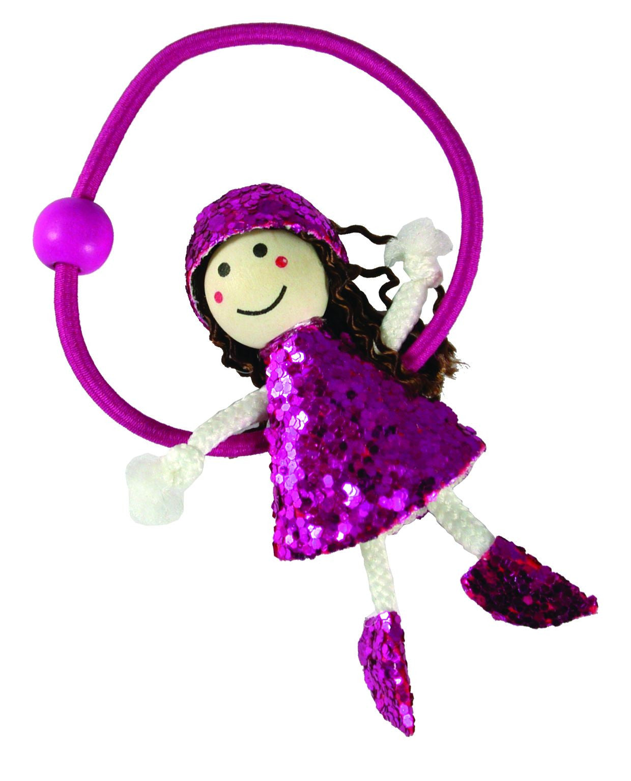 Glitter Dress Doll Pony Elastics