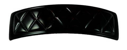 Quilted Barrette-Black