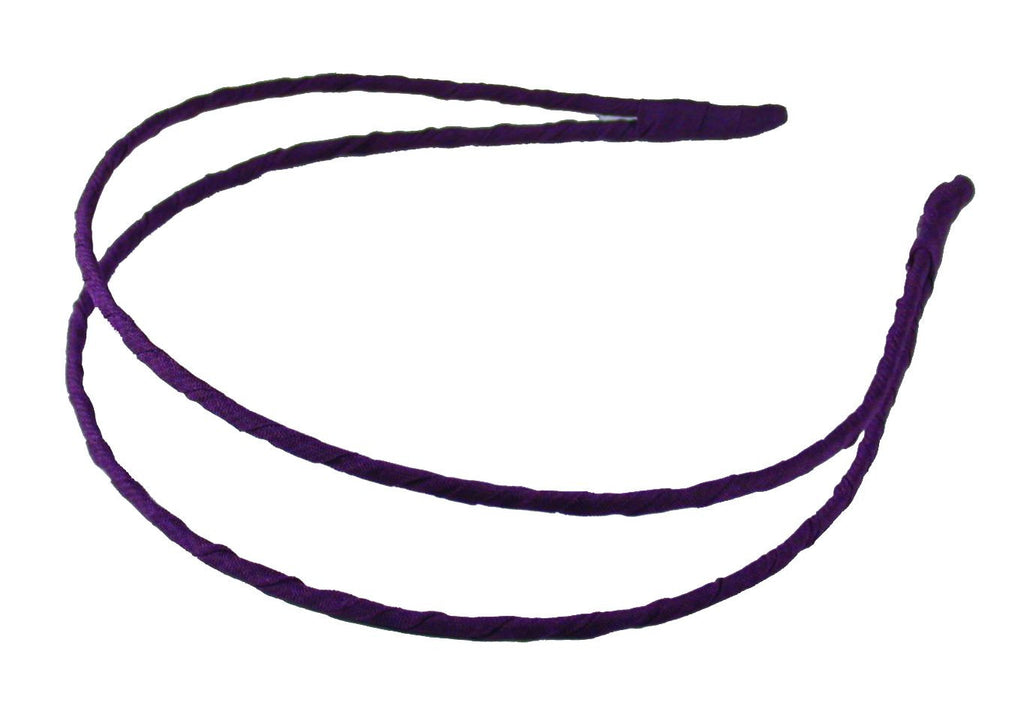 Wrapped Double Headband-Plum