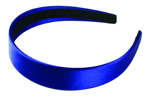 Satin Headband-Blue