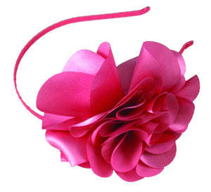 Large Laser Cut Flower Thin Headband-French Pink