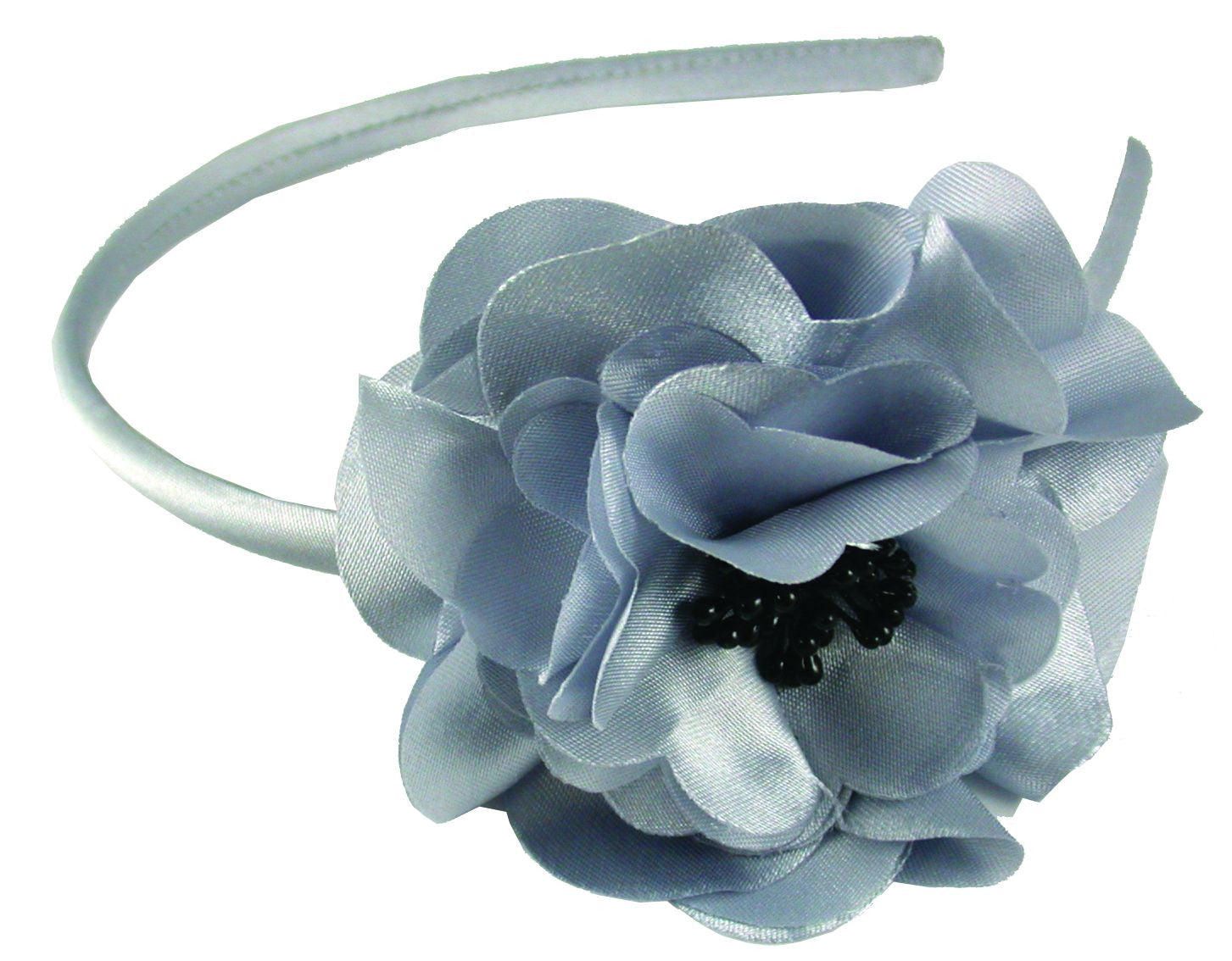 Laser Cut Flower Headband-Light Gray