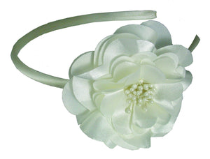 Laser Cut Flower Headband-Ivory