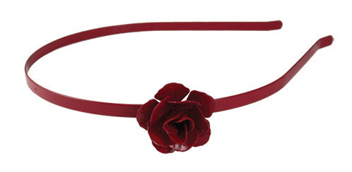 Rose Thin Headband - Red