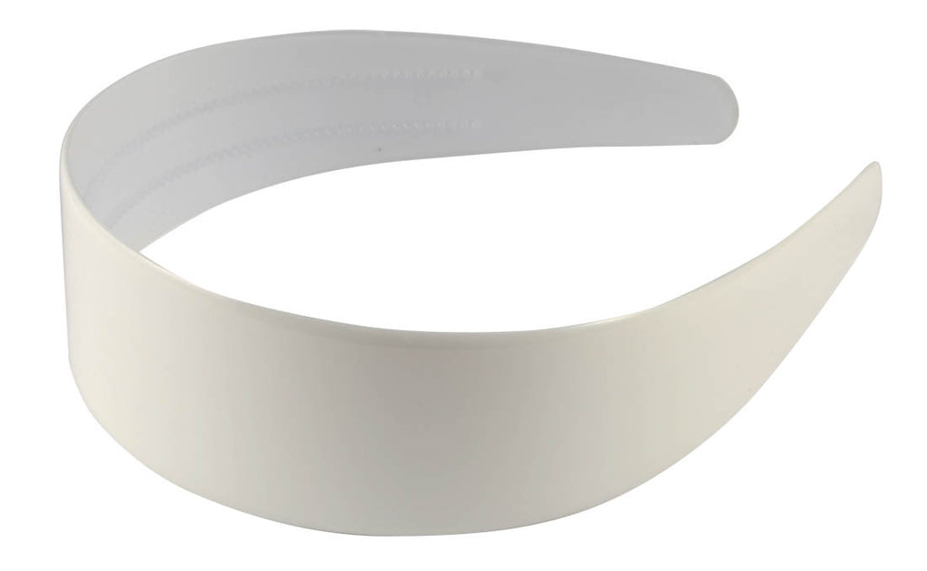 Wide Headband-White