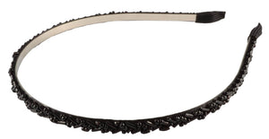 Beaded Thin Headband- Black