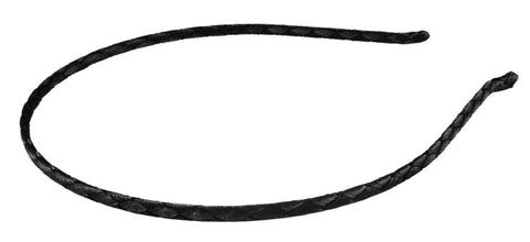 Braided Fabric Thin Headband-Black