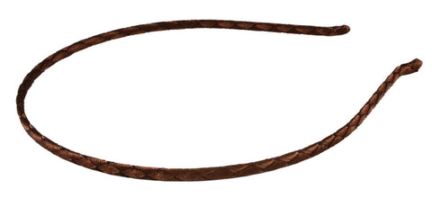 Braided Fabric Thin Headband-Dark Brown